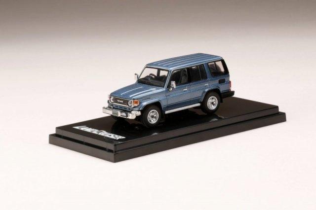 <予約 2021/12月発売予定> HobbyJapan 1/64 トヨタ ランドクルーザー 70 ZX 4DOOR 1994 ブルーイッシュグレーメタリック