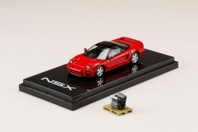 <予約 2021/7月発売予定> HobbyJapan 1/64 ホンダ NSX (NA1) 1990 エンジンディスプレイモデル付 フォーミュラーレッド