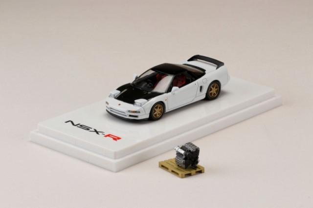 <予約 2021/7月発売予定> HobbyJapan 1/64 ホンダ NSX (NA1) 1990 エンジンディスプレイモデル付 チャンピオンシップホワイト