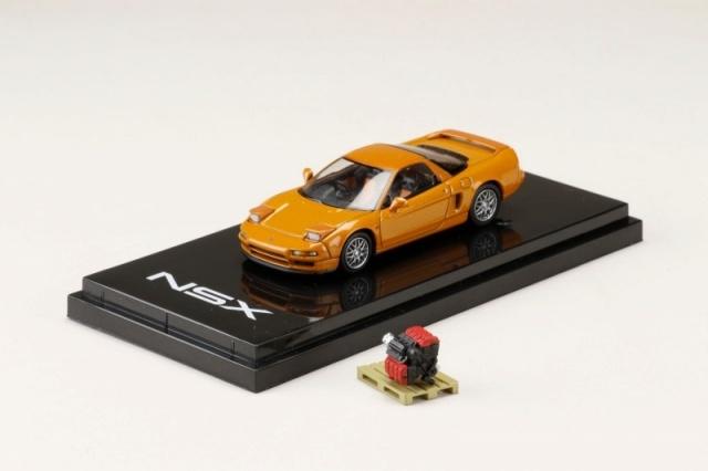 HobbyJapan 1/64 Honda NSX (NA2) 1997 Type S ZERO With Engine Display Model Imora Orange Pearl