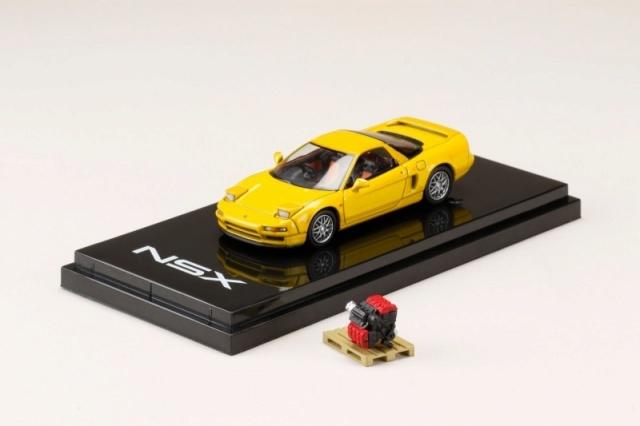 <予約 2021/7月発売予定> HobbyJapan 1/64 ホンダ NSX (NA1) 1990 エンジンディスプレイモデル付 インディイエローパール