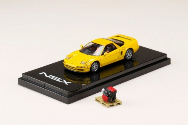 HobbyJapan 1/64 Honda NSX (NA2) 1997 Type S ZERO With Engine Display Model Indy Yellow Pearl