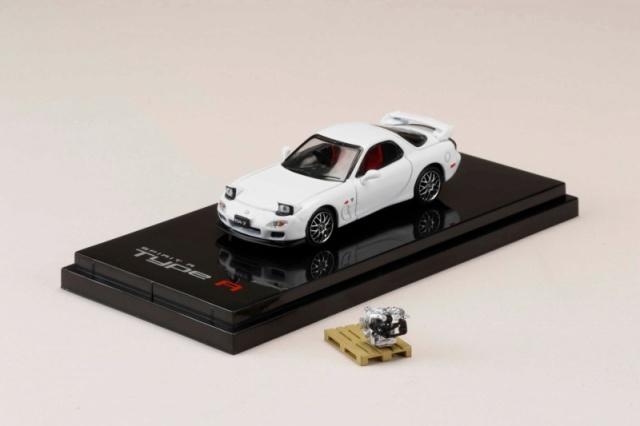 <予約 2021/7月発売予定> HobbyJapan 1/64 マツダ RX-7 (FD3S) SPIRIT R TYPE A エンジンディスプレイモデル付 ピュアホワイト