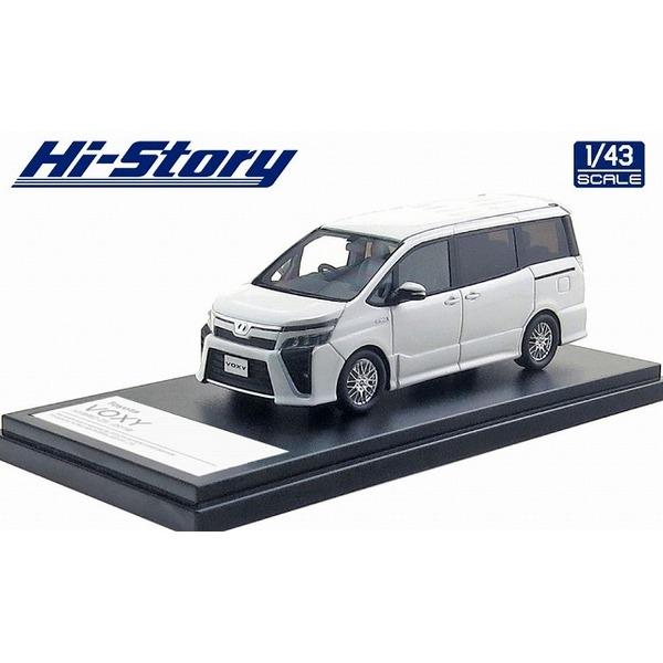 【Hi-Story】 1/43 Toyota VOXY HYBRID ZS 2019 ホワイトパールクリスタルシャイン