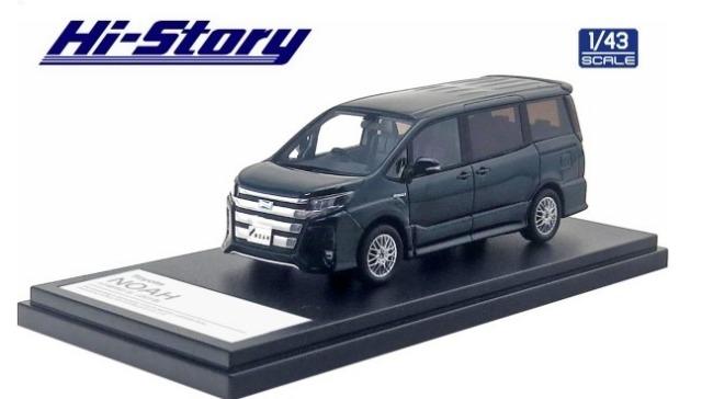 Hi-Story 1/43 Toyota NOAH HYBRID Si (2019) ブラキッシュアゲハガラスフレーク