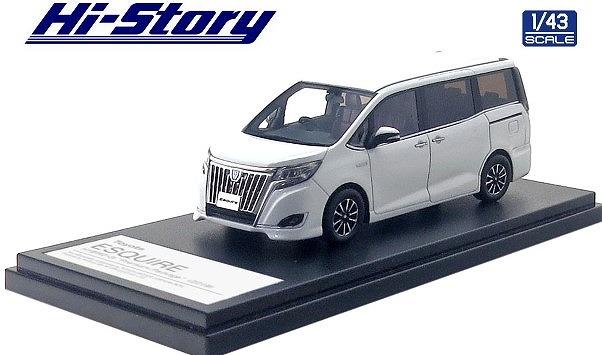Hi-Story 1/43 Toyota ESQUIRE HYBRID Gi Premium Package (2019) ホワイトパールクリスタルシャイン