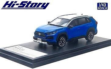 Hi-Story 1/43 Toyota RAV4 Adventure(2019) アッシュグレーメタリック×シアンメタリック