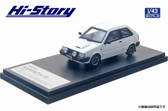 <予約 2021/5月発売予定> Hi-story 1/43 NISSAN MARCH R (1988) クリスタルホワイト