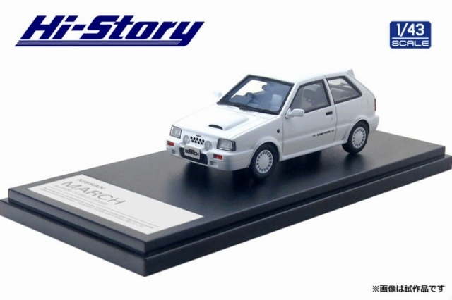 <予約 2021/5月発売予定> Hi-story 1/43 NISSAN MARCH SUPER TURBO (1989) クリスタルホワイト