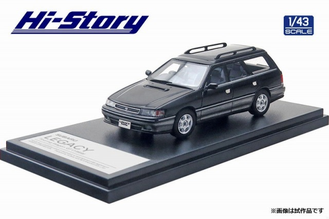 Hi-Story 1/43 SUBARU LEGACY Touring Wagon GT(1989) ブラックマイカ/ミディアムグレーメタリック