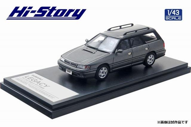 Hi-Story 1/43 SUBARU LEGACY Touring Wagon GT(1989) ミディアムグレーメタリック