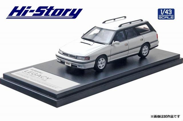 Hi-Story 1/43 SUBARU LEGACY Touring Wagon GT(1989) セラミックホワイト