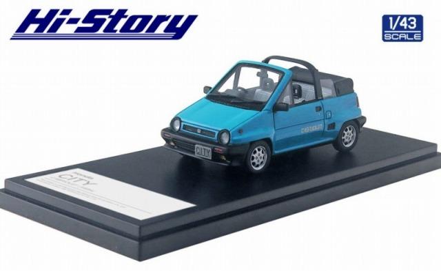 Hi-Story 1/43 Honda CITY CABRIOLET(1984) マイアミブルー