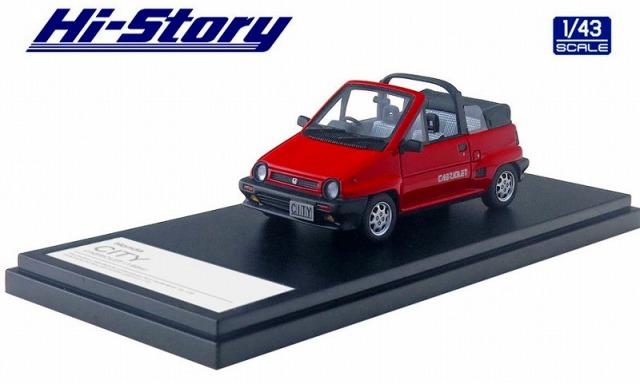 Hi-Story 1/43 Honda CITY CABRIOLET(1984) フレームレッド