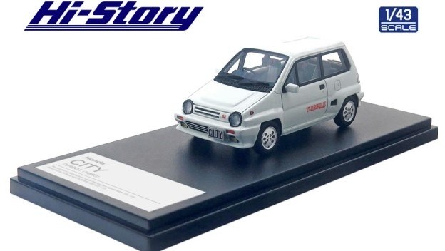 Hi-Story 1/43 Honda CITY TURBO 2 (1983) グリークホワイト
