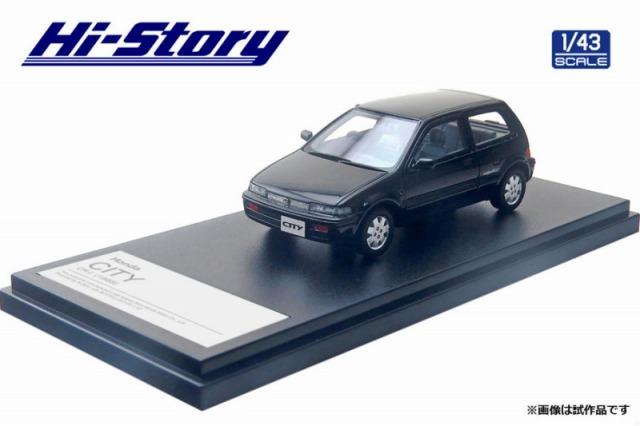 Hi-Story 1/43 Honda CITY CR-i(1988)フリントブラック メタリック