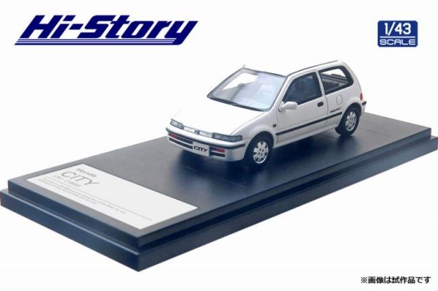 Hi-Story 1/43 Honda CITY CR-i(1988)ニューポーラホワイト