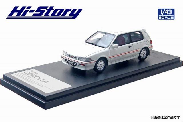 Hi-Story 1/43 Toyota COROLLA FX-GT(1987) スーパーホワイト2