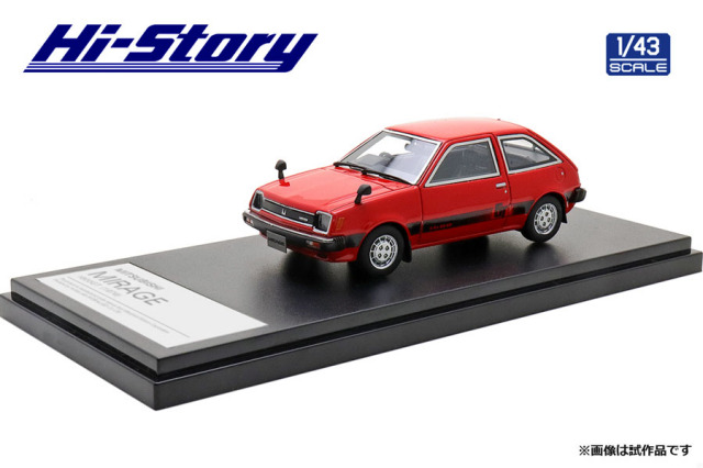 Hi-Story 1/43 MITSUBISHI MIRAGE 1600GT(1979) サファリレッド