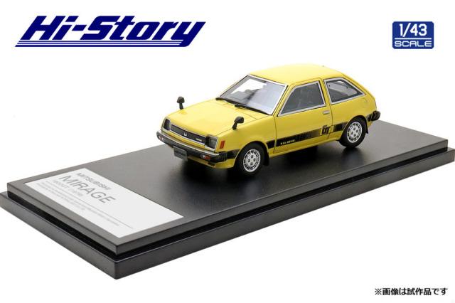 Hi-Story 1/43 MITSUBISHI MIRAGE 1600GT(1979) サンマリノイエロー