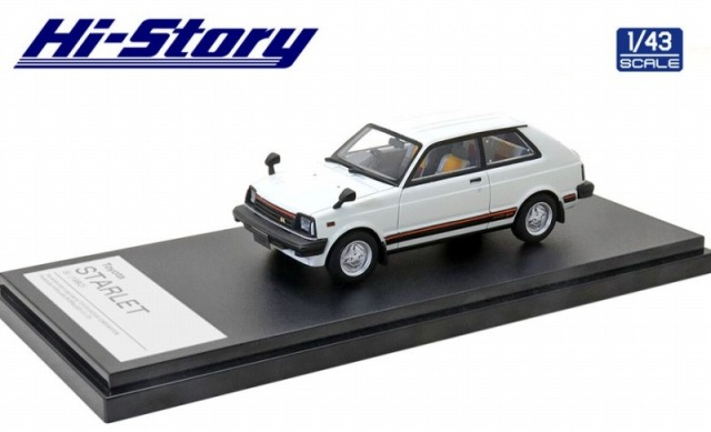 Hi-Story 1/43 Toyota STARLET Si 1982 スマッシュホワイト