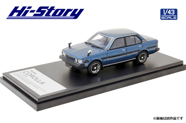 Hi-Story 1/43 Toyota COROLLA GT(1979) マイアミブルーM