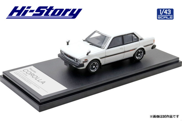 Hi-Story 1/43 Toyota COROLLA GT(1979) サンモリッツホワイト