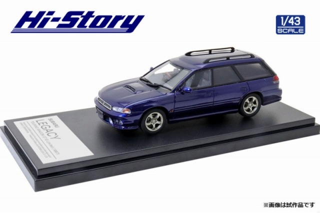 Hi-Story 1/43 SUBARU LEGACY TOURING WAGON GT-B Limited(1997)ロイヤルブルー マイカ