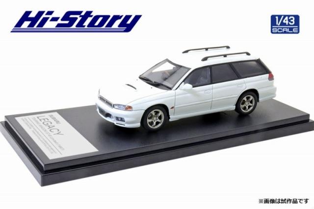 Hi-Story 1/43 SUBARU LEGACY TOURING WAGON GT-B Limited(1997)ピュアホワイト