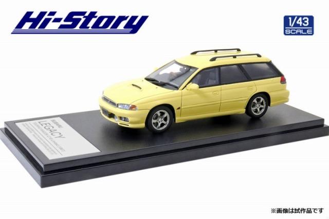 Hi-Story 1/43 SUBARU LEGACY TOURING WAGON GT-B Limited(1997)カシミヤイエロー