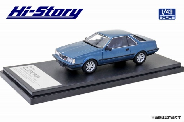 Hi-Story 1/43 Toyota CORONA HARDTOP 1800 GT-TR 1983 ブルーメタリック