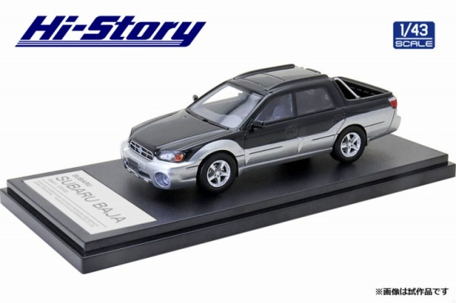 Hi-Story 1/43 SUBARU BAJA Sport (2003) ブラックグラナイトパール/シルバーストーンメタリック