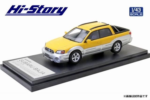 Hi-Story 1/43 SUBARU BAJA Sport (2003) バハイエロー/シルバーストーンメタリック