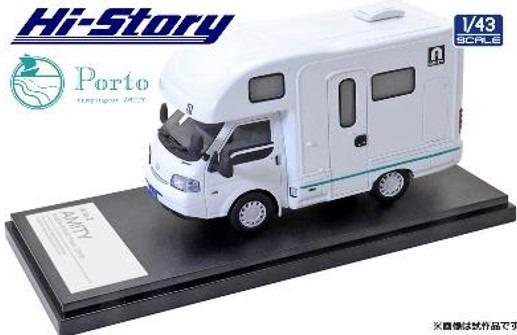 Hi-Story 1/43 AtoZ AMITY Porto キャンピングカー(マツダ ボンゴトラック 2019) ブルーライン