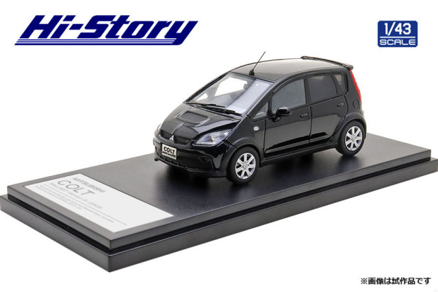 Hi-Story 1/43 MITSUBISHI COLT RALLIART Version-R(2006) ブラックマイカ