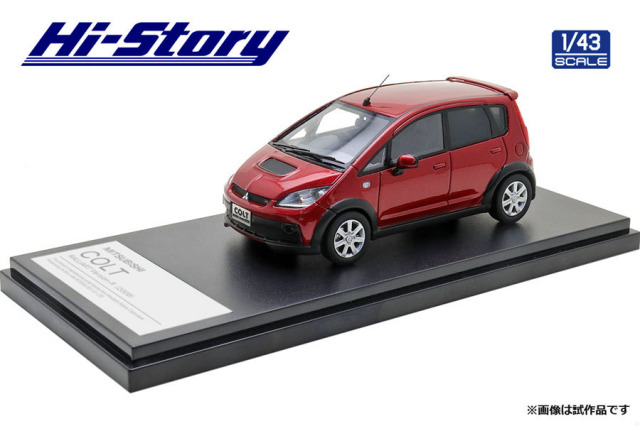 Hi-Story 1/43 MITSUBISHI COLT RALLIART Version-R(2006) レッドメタリック
