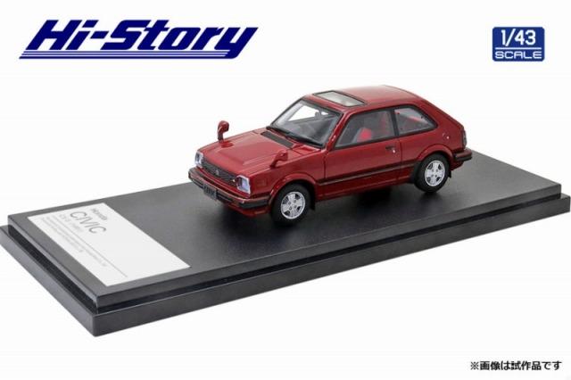 Hi-Story 1/43 Honda CIVIC CX-S(1981) レッド