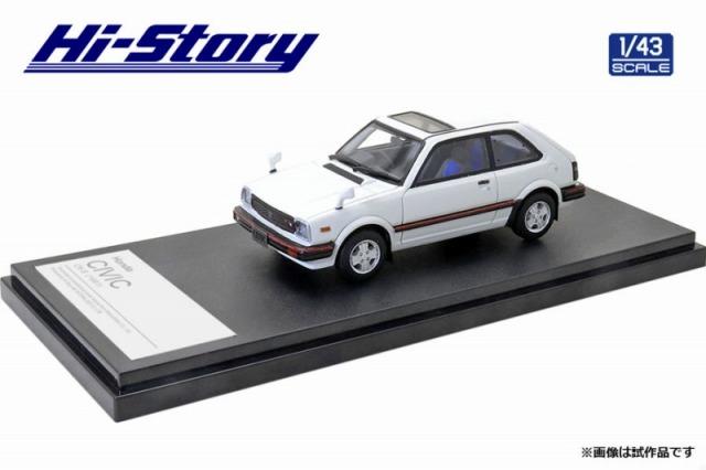 Hi-Story 1/43 Honda CIVIC CX-S(1981) ホワイト