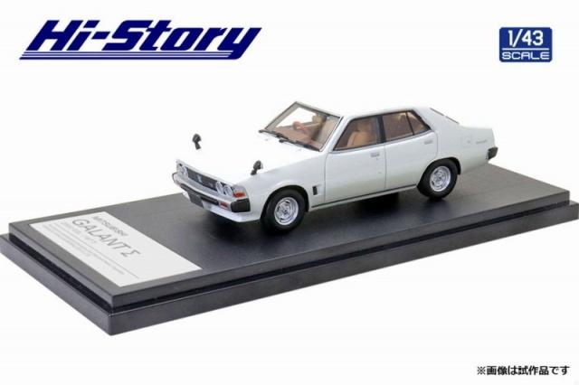 Hi-Story 1/43 MITSUBISHI GALANT Σ 2000 GSL(1977) パールホワイト