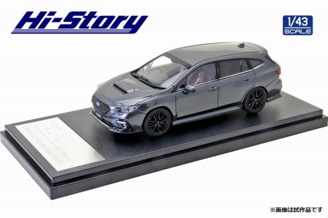 Hi-Story 1/43 SUBARU LEVORG STI Sport(2020) STIスポーツパーツ マグネタイトグレーメタリック