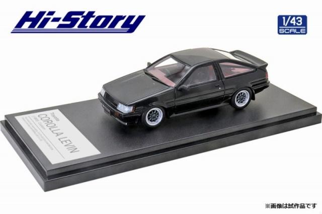 Hi-Story 1/43 Toyota COROLLA LEVIN カスタマイズ(1983) ブラック