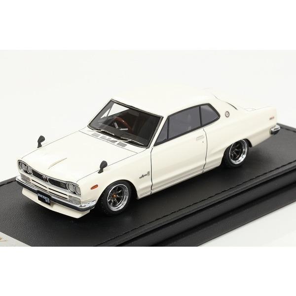 【イグニッションモデル】 1/43 Nissan Skyline 2000 GT-X (KGC10)  White
