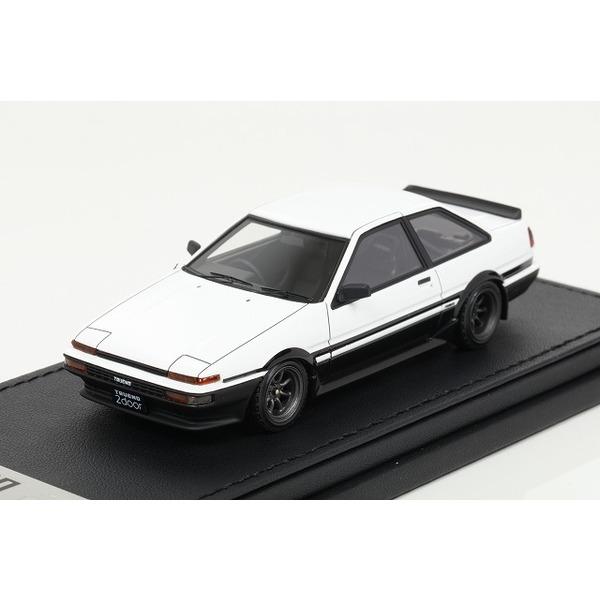 【イグニッションモデル】 1/43 Toyota Sprinter Trueno(AE86)  2Door GT Apex White/Black