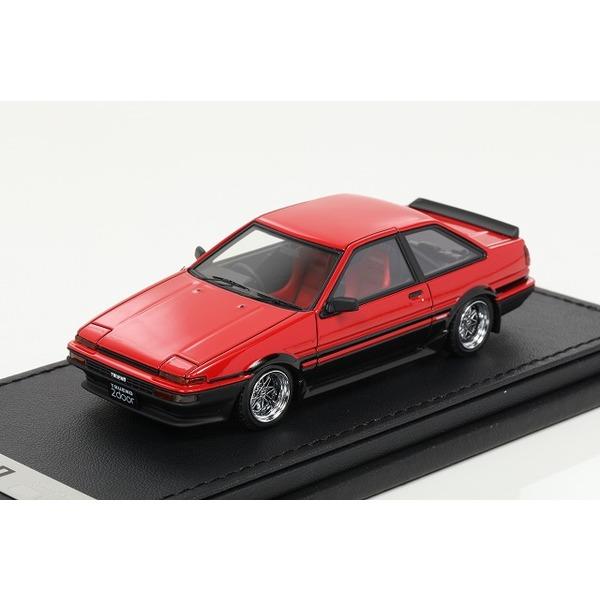 【イグニッションモデル】 1/43 Toyota Sprinter Trueno(AE86)  2Door GT Apex Red/Black