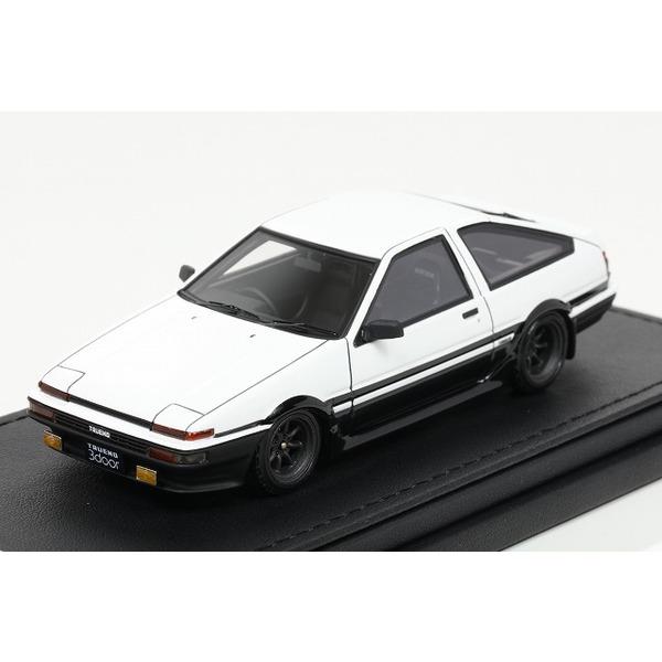 【イグニッションモデル】 1/43 Toyota Sprinter Trueno(AE86) 3Door  GT Apex   White/Black