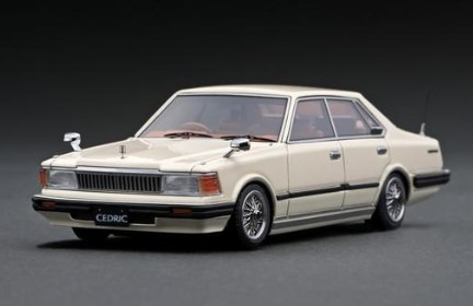Ignition 1/43 Nissan Cedric P430 4Door Hardtop 280E Brougham White Wire-Wheel