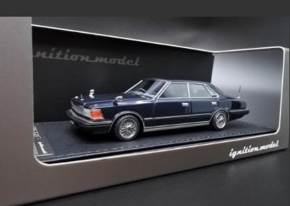 Ignition model 1/43 Nissan Cedric (P430) 4Door Hardtop 280E Brougham Deep Blue Metallic