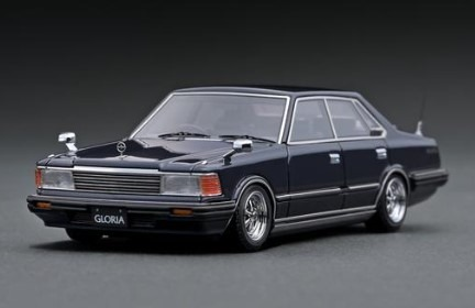 Ignition 1/43 Nissan Gloria P430 4Door Hardtop 280E Brougham  Deep Blue Metallic