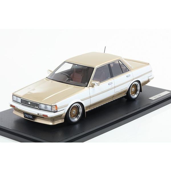 【イグニッションモデル】1/18 トヨタ クレスタ GX71 GT ツインターボ ホワイト/ゴールド