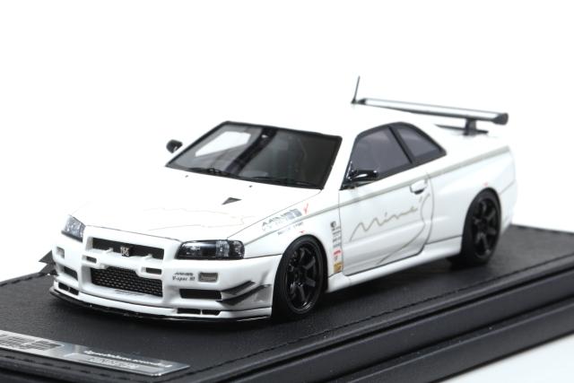ignition 1/43 Nissan Skyline GT-R Mine's (R34) White